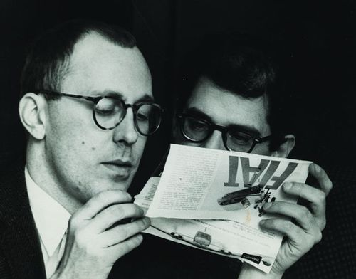 12 Ginsberg and Carroll reading at Sherman Hotel